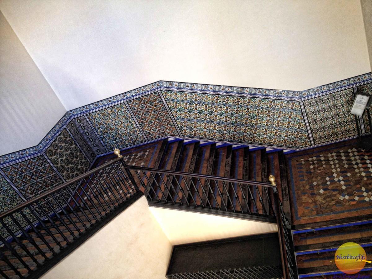 The impressive staircase at royal alcazar