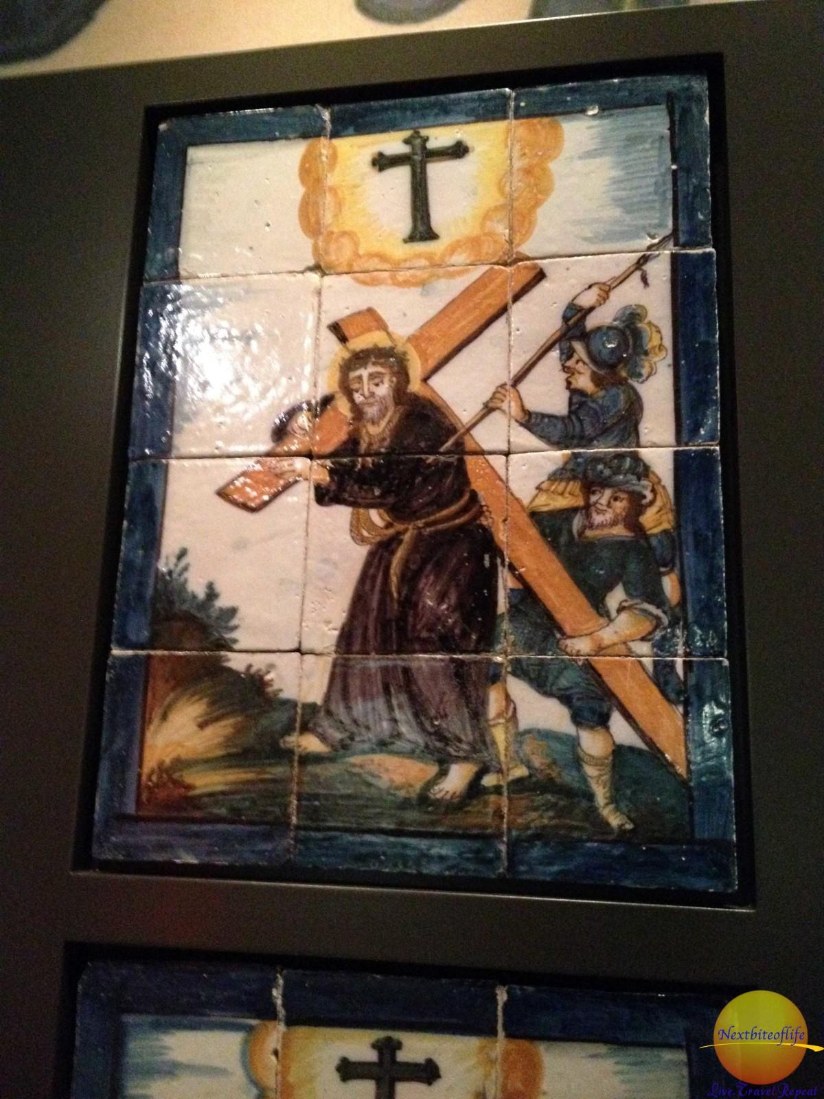 religious art tile royal alcazar seville