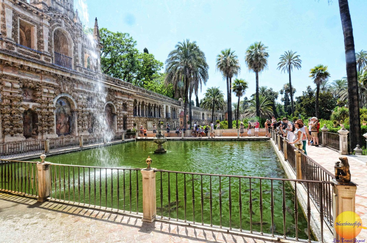 Alcazar Seville mercury pond