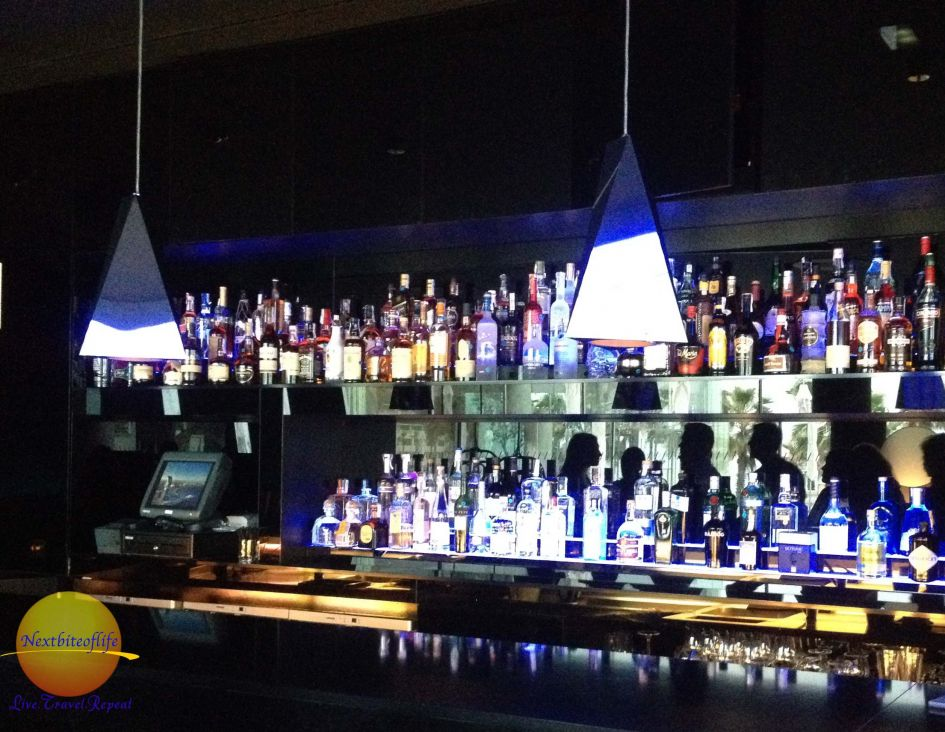 Well equipped bar at the W Barcelona hotel..