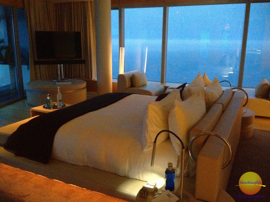 The view from a luxury suite at W hotel Barcelona