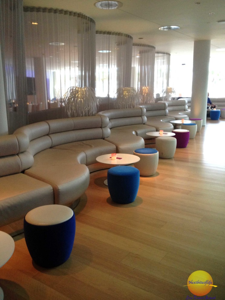 Lounge area that leads to the beach. w barcelona