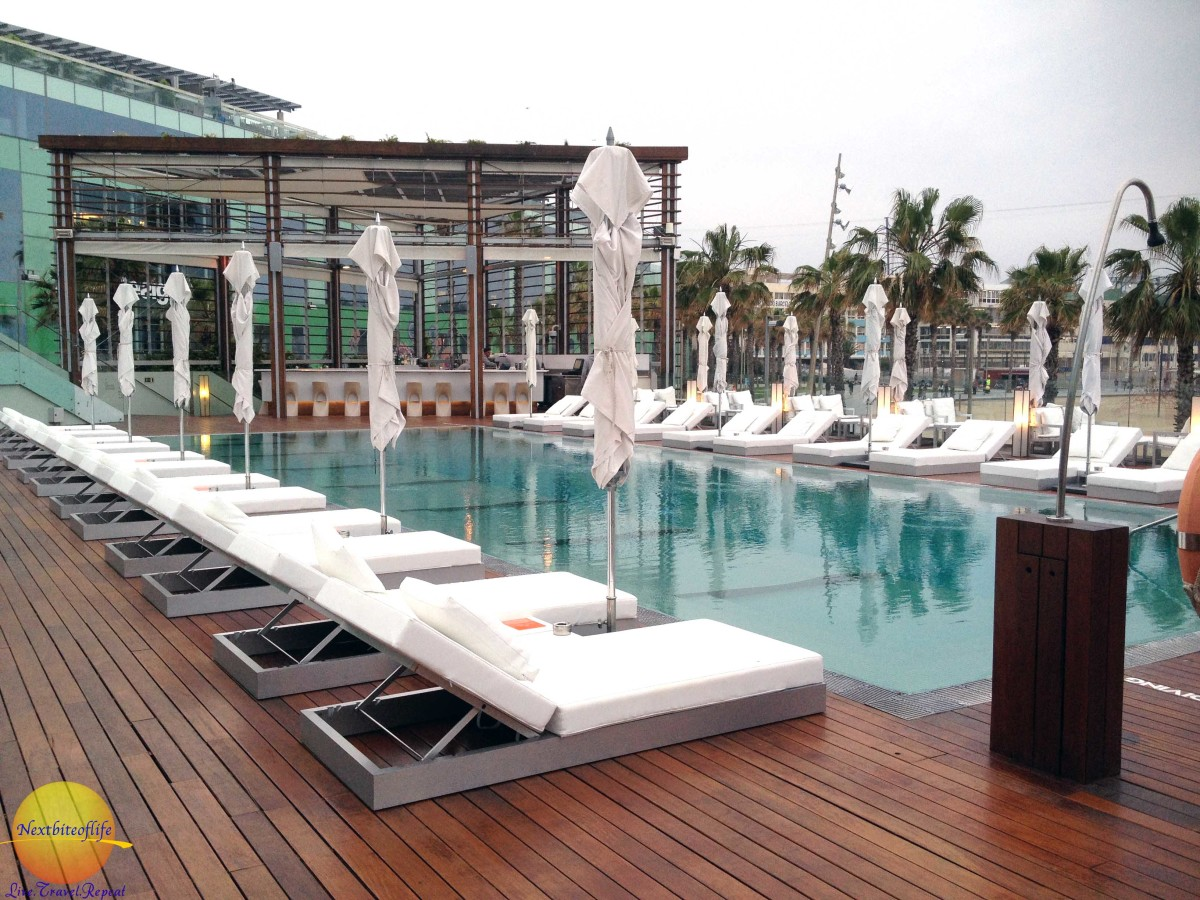 There is the regular pool on one side, and the Infinity pool on the other.