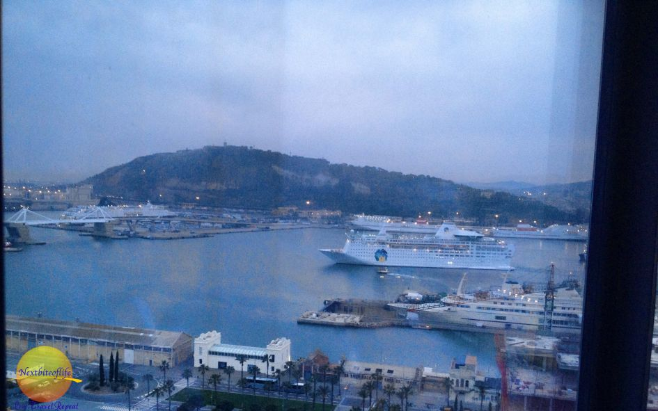 """Even the """"not so great"""" views are superb. This is the port view."""