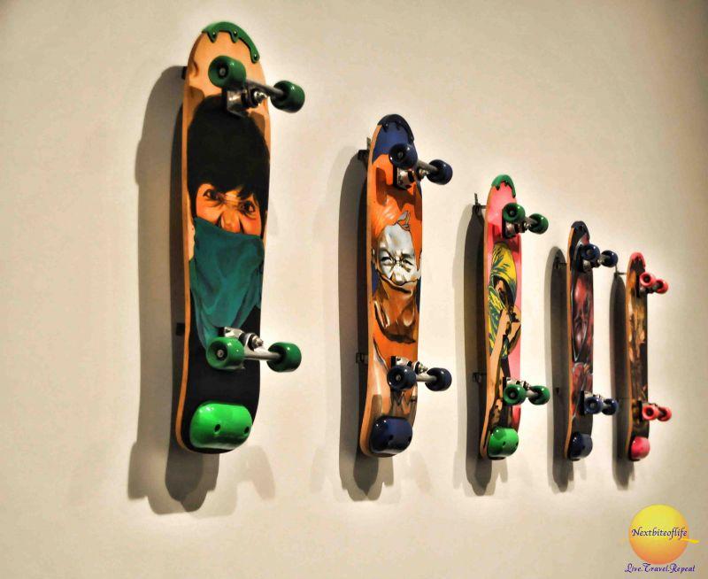 cool skateboard art MACBA
