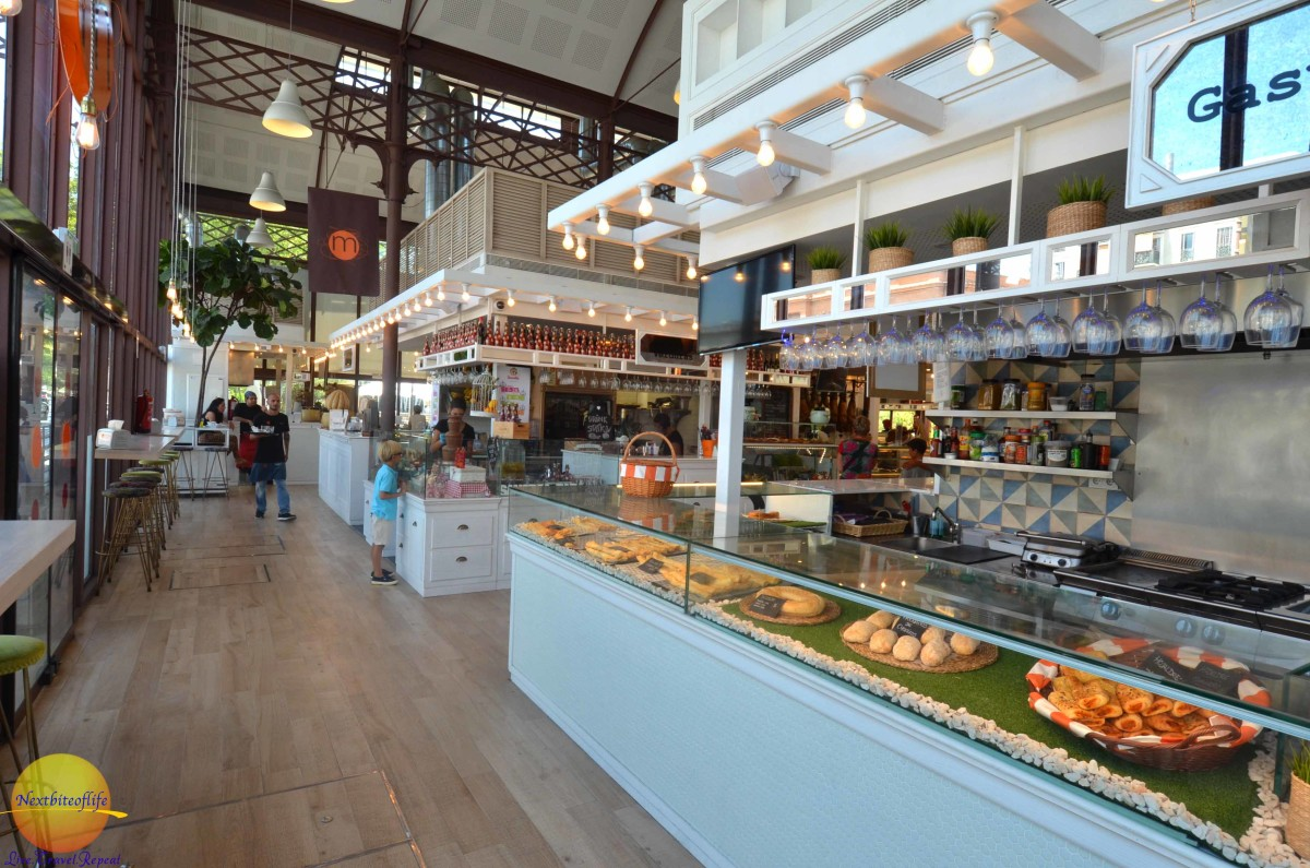Checking out the goodies at mercado barranco gastronomy market