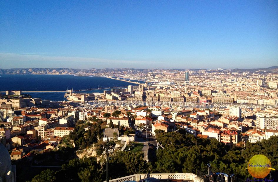 The views from Notre Dame Marseille are stupendous..