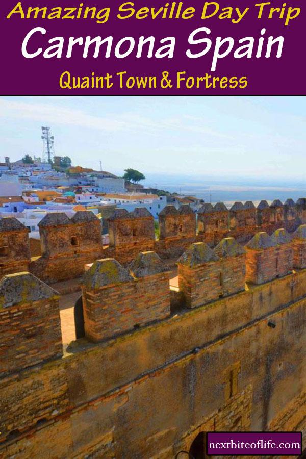 Carmona fortress of Seville #carmona #seville #sevilledaytrip #fortressseville #paradorseville #puertaseville #sevilla