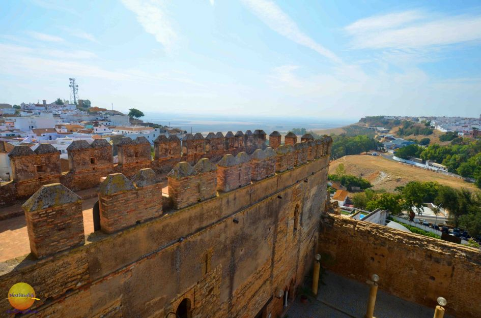 Carmona fortress view from the top in Andalusia