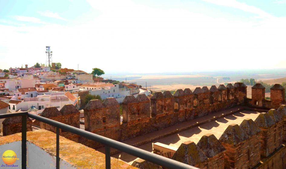 view of Carmona from the fortified wall