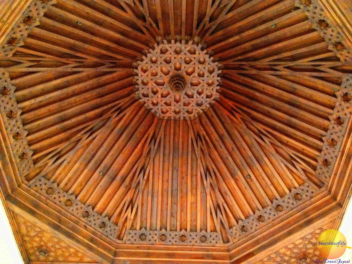 Ceiling. I love the workmanship.