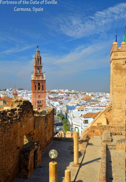 "View from the ""prison"" in Carmona fortress Seville"