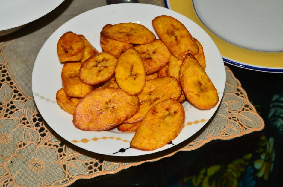 Dodo !!! (Plantain) on a plate, a favorite Nigerian food