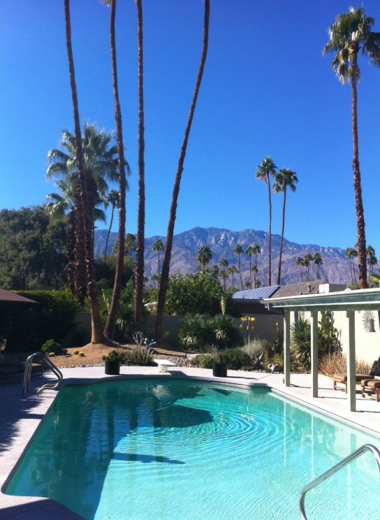 views from the house in Palm Springs in our reverse culture shock post