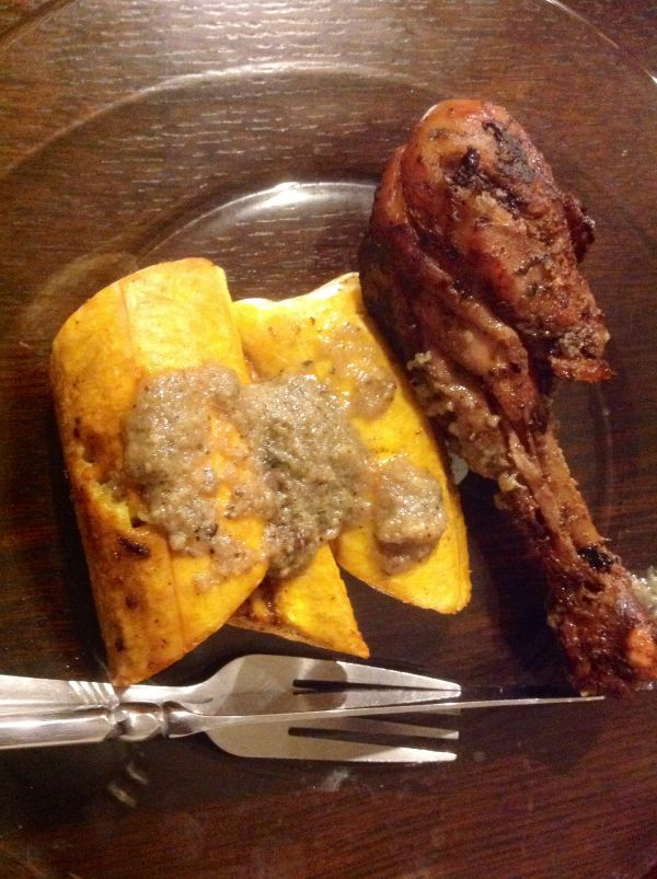 A meal courtesy of our airbnb host. Plantain and grilled chicken which was fantastic. The plantain not so much to me as it was not as ripe as l like it. He also made fantastic French toast and scrambled eggs.