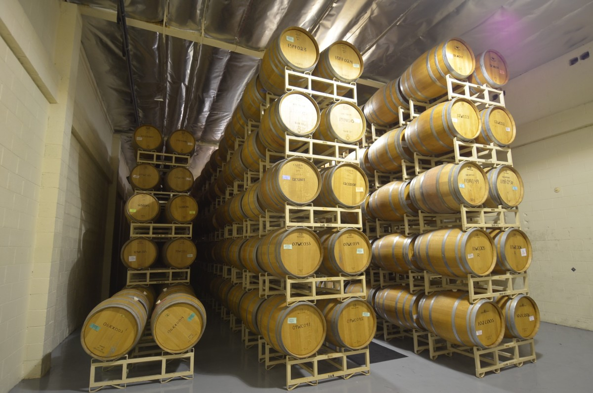 san antonio winery aging room