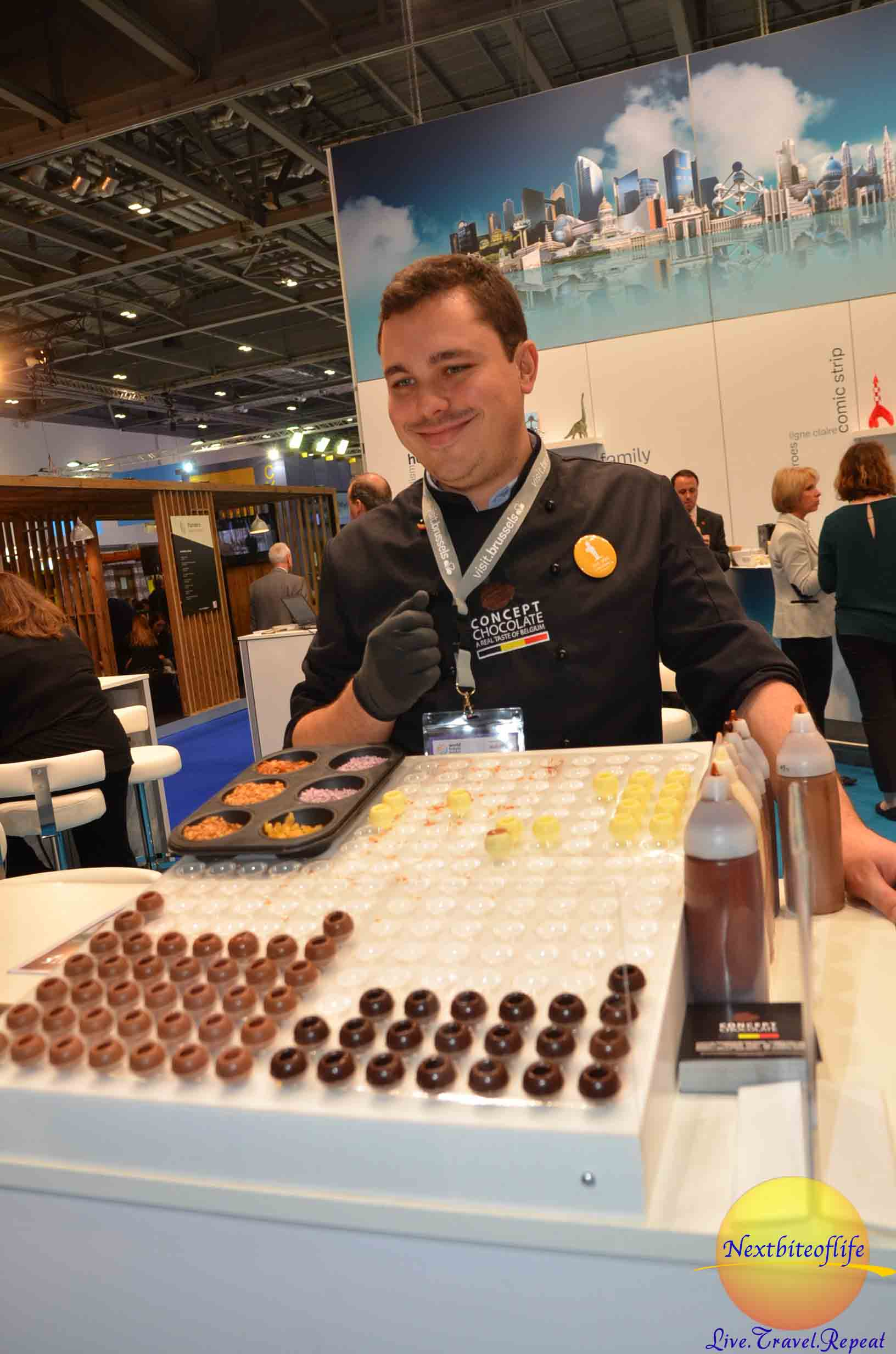 Belgian chocolate..and you got to design your own!