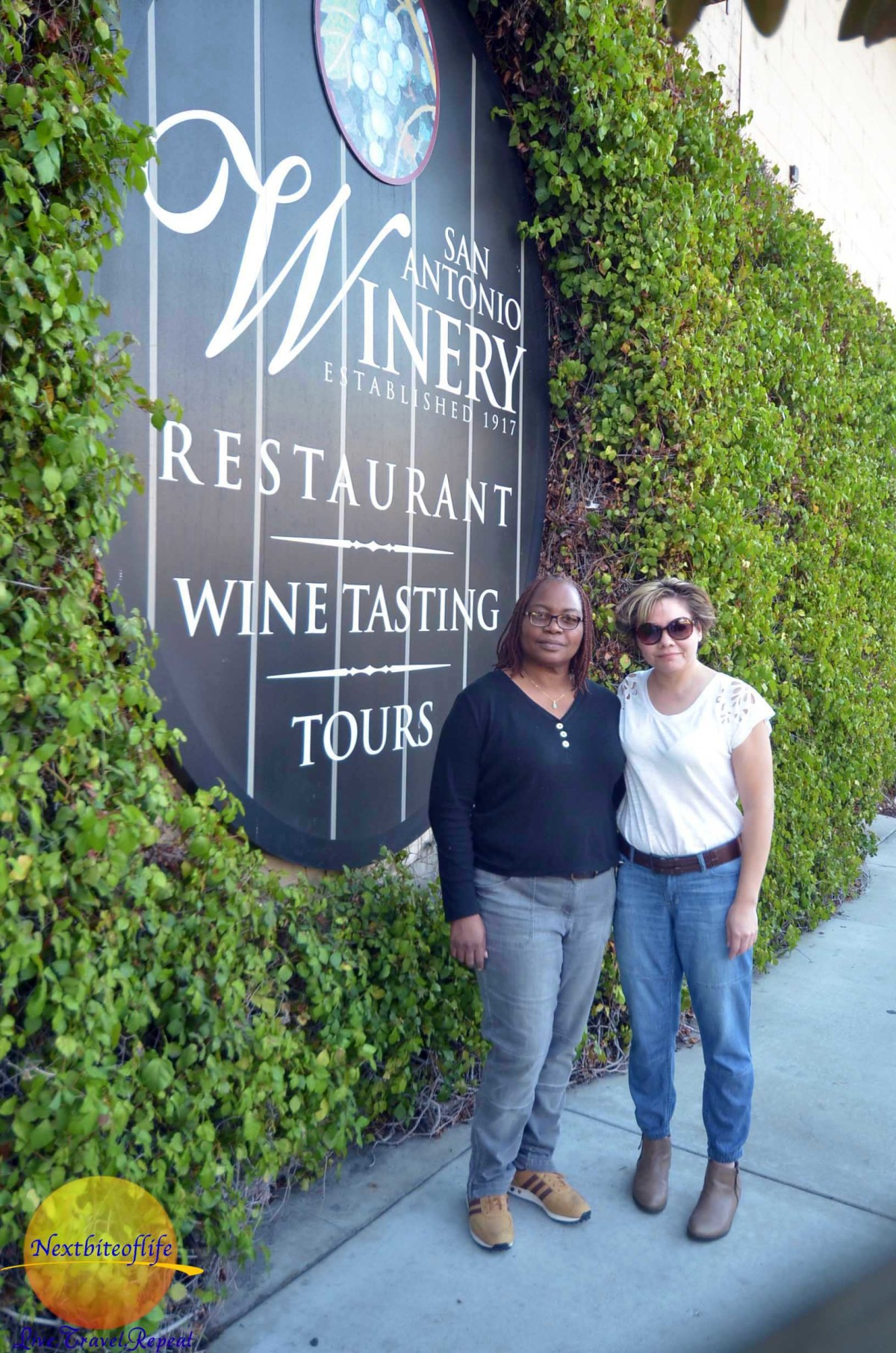 """""""Bring it on"""" we said. It was her twin who first discovered the San Antonio Winery."""