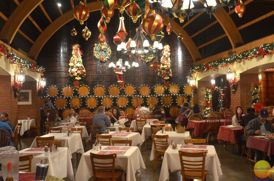 The Maddalena restaurant tables at San Antoni winery L.A
