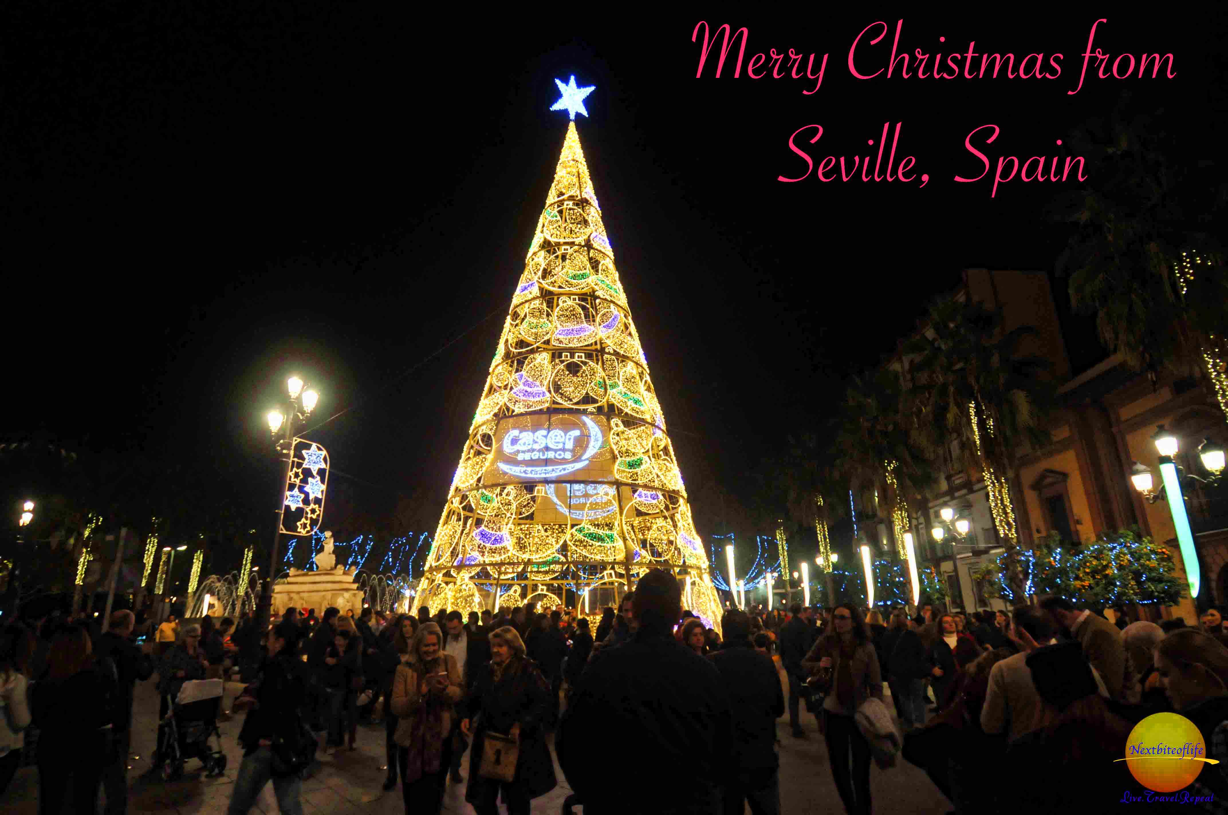 Christmas Spain.Christmas In Seville Spain A Night Stroll Nextbiteoflife