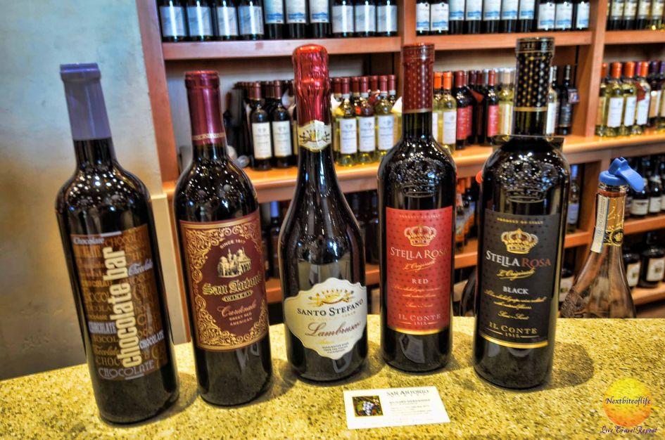 san antonio winery selection of wine
