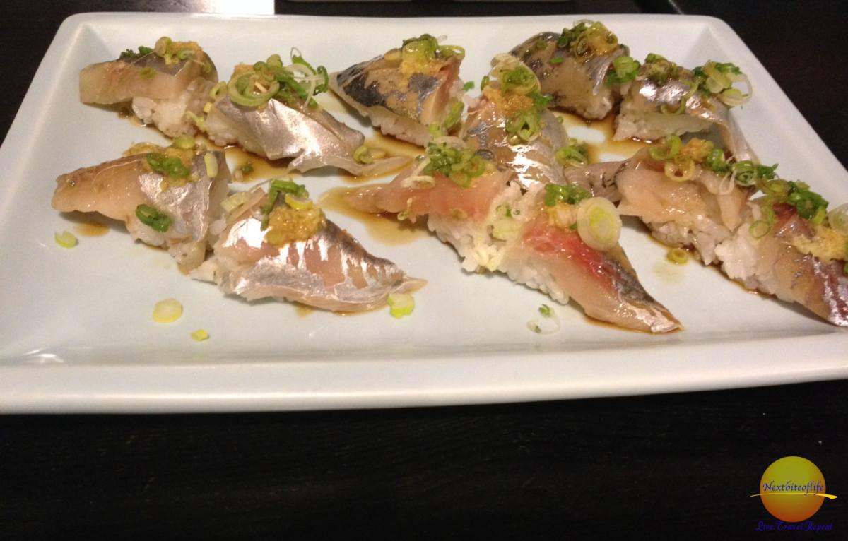 spanish mackerel at sushi karen los angeles