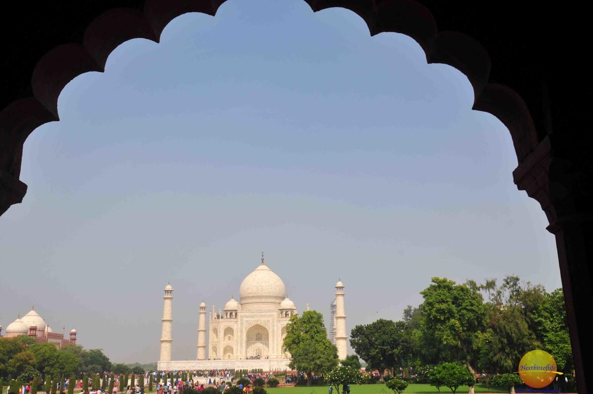 taj mahal view, agra india