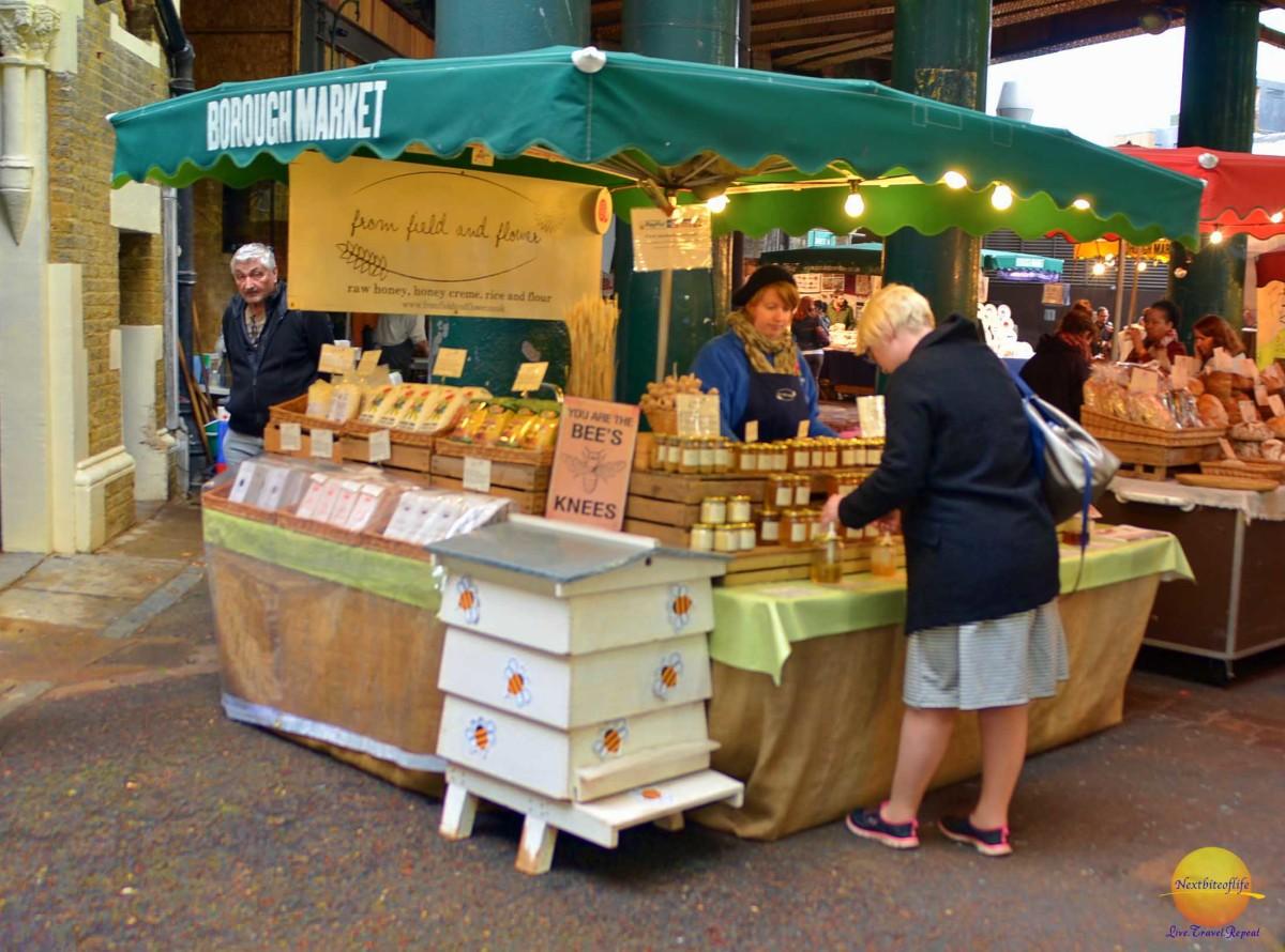 borough market london stall