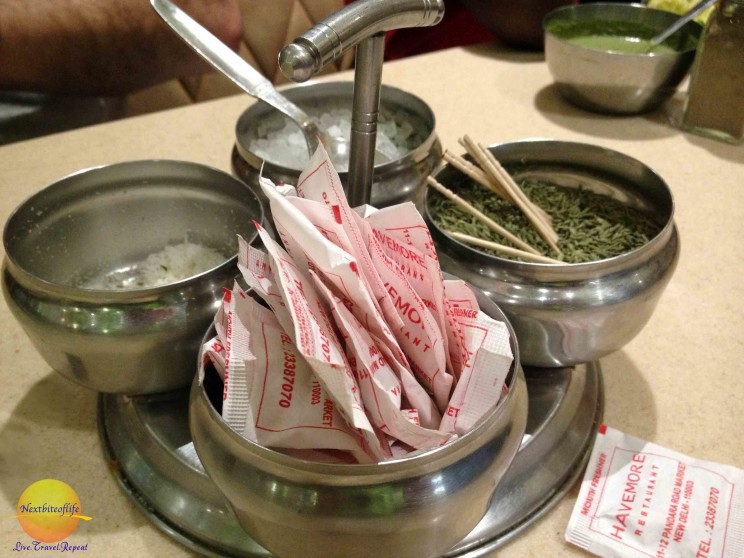 condiment in new delhi after dinner minty herbs