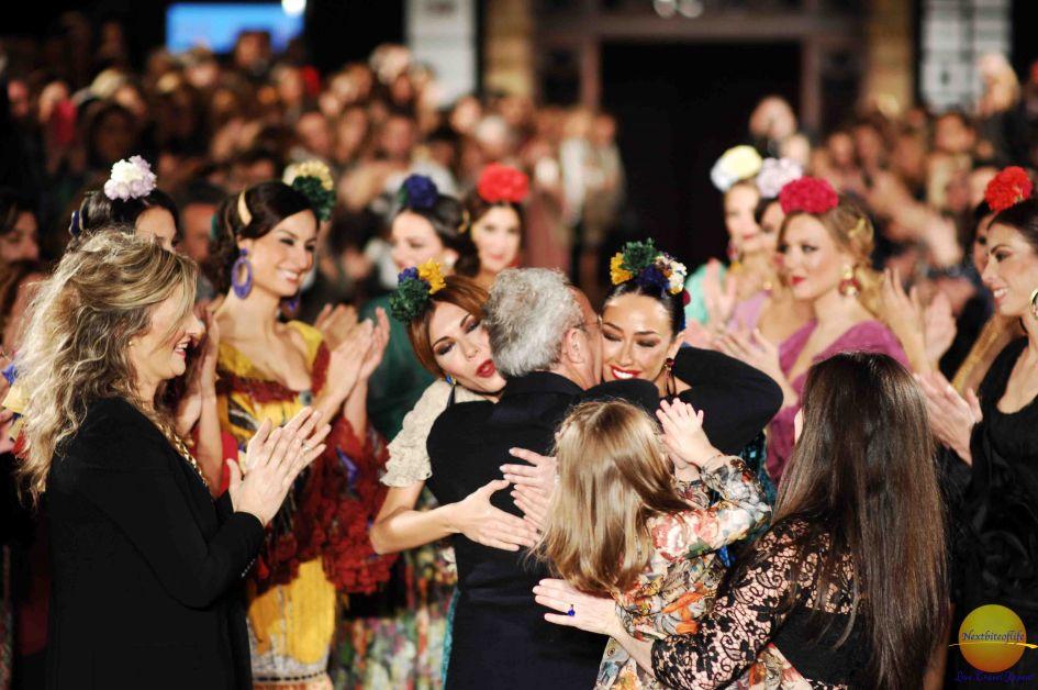 we love flamenco show seville designer getting hugs