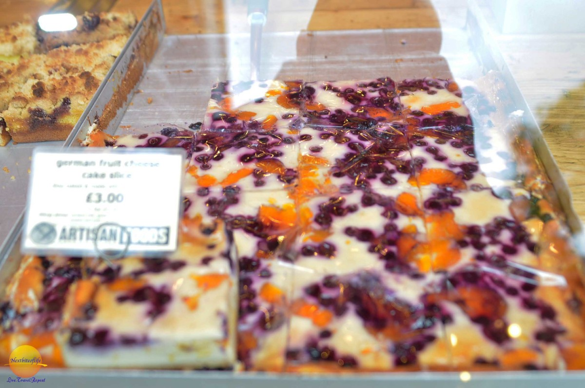 fantastic, and so fresh german cake at borough market