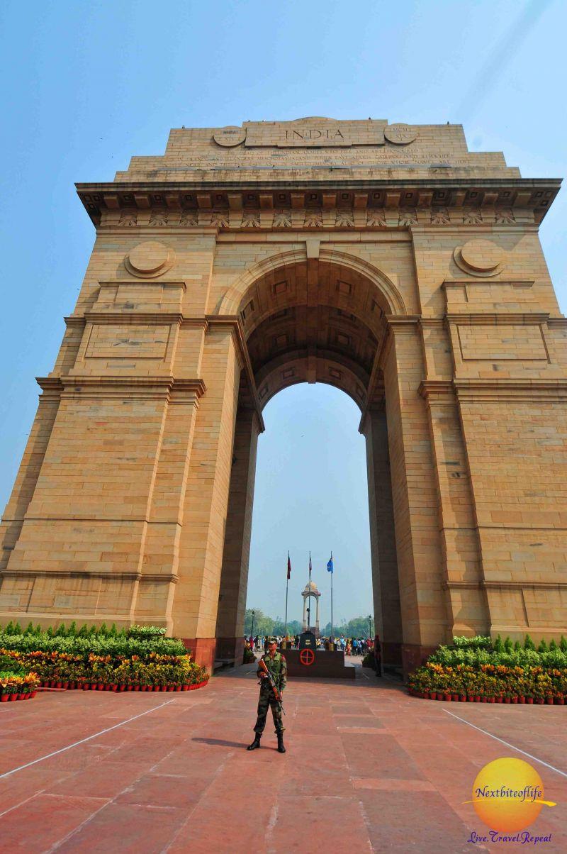 a day in delhi india gate