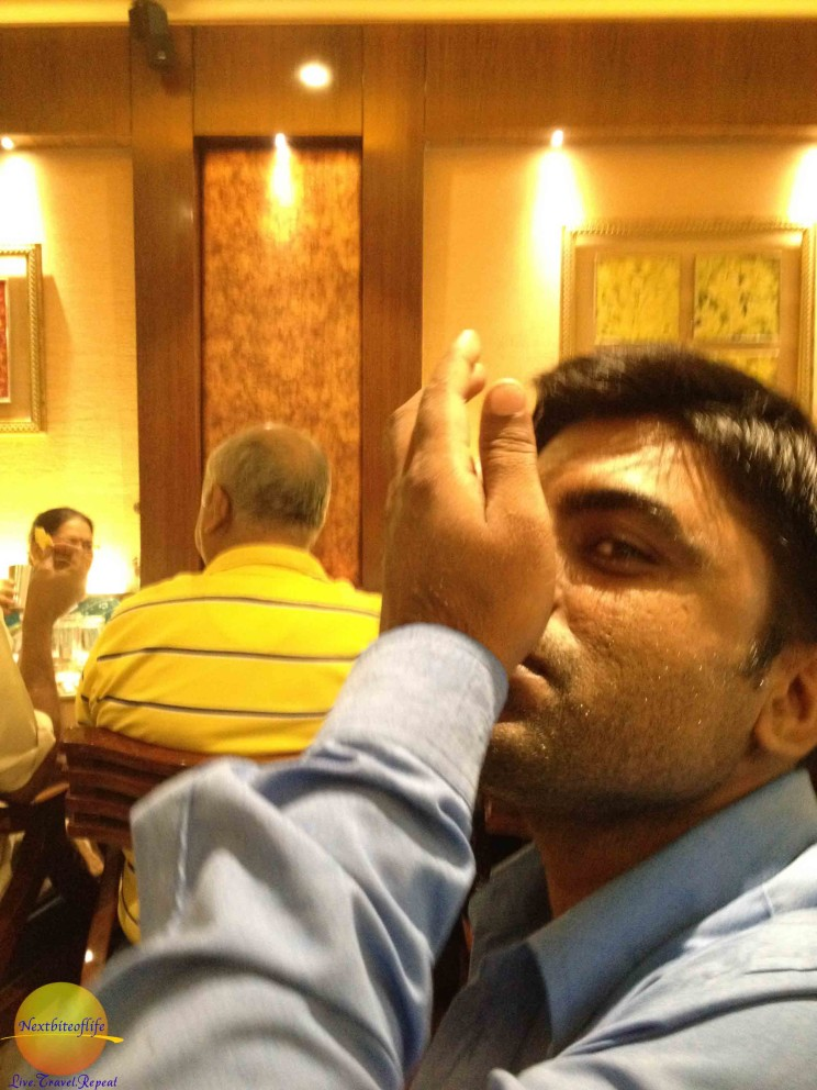Down the hatch..eatind during out day in New Delhi guide