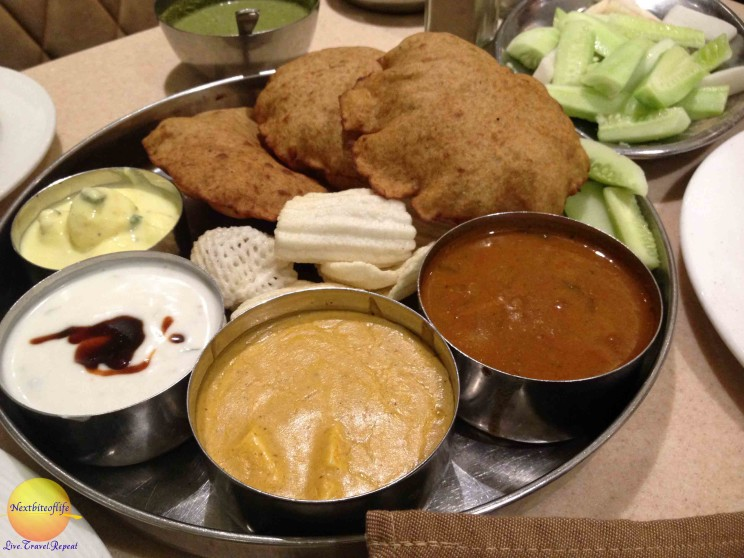 Navratra Thali platter - part of how spent a day in New Delhi eating part.