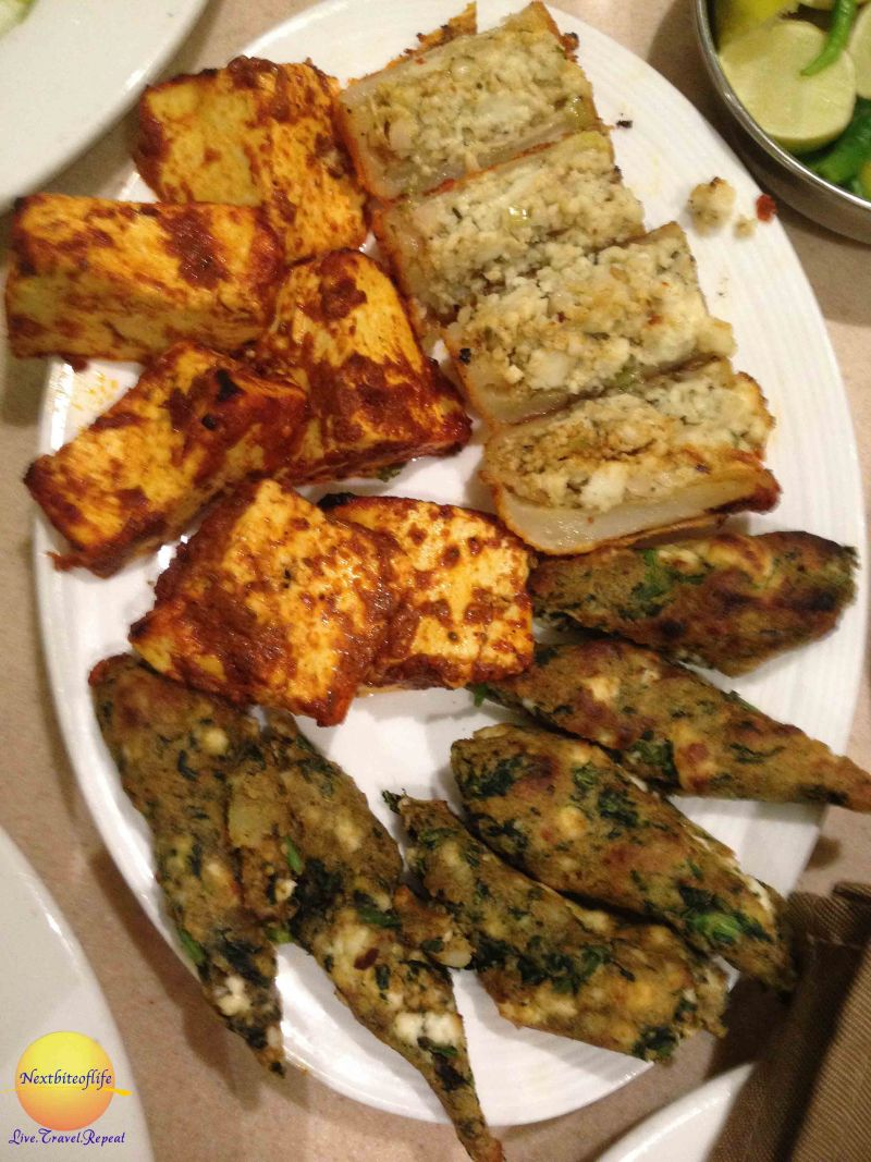 The Navratra platter. I liked everything but wasn't overly fond of the tofu thing in the upper left.