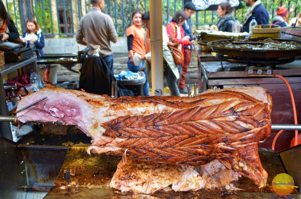 borough market london roast pig