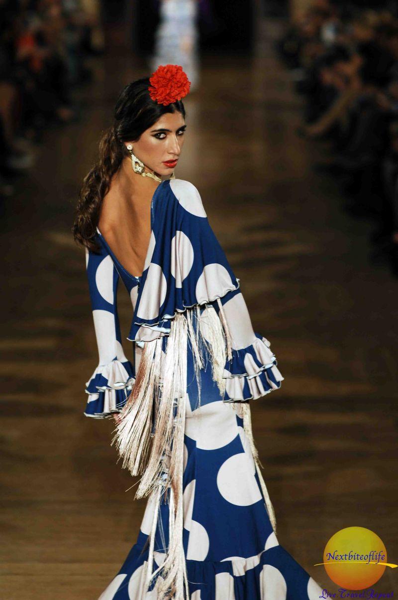flamenco dress on runway model