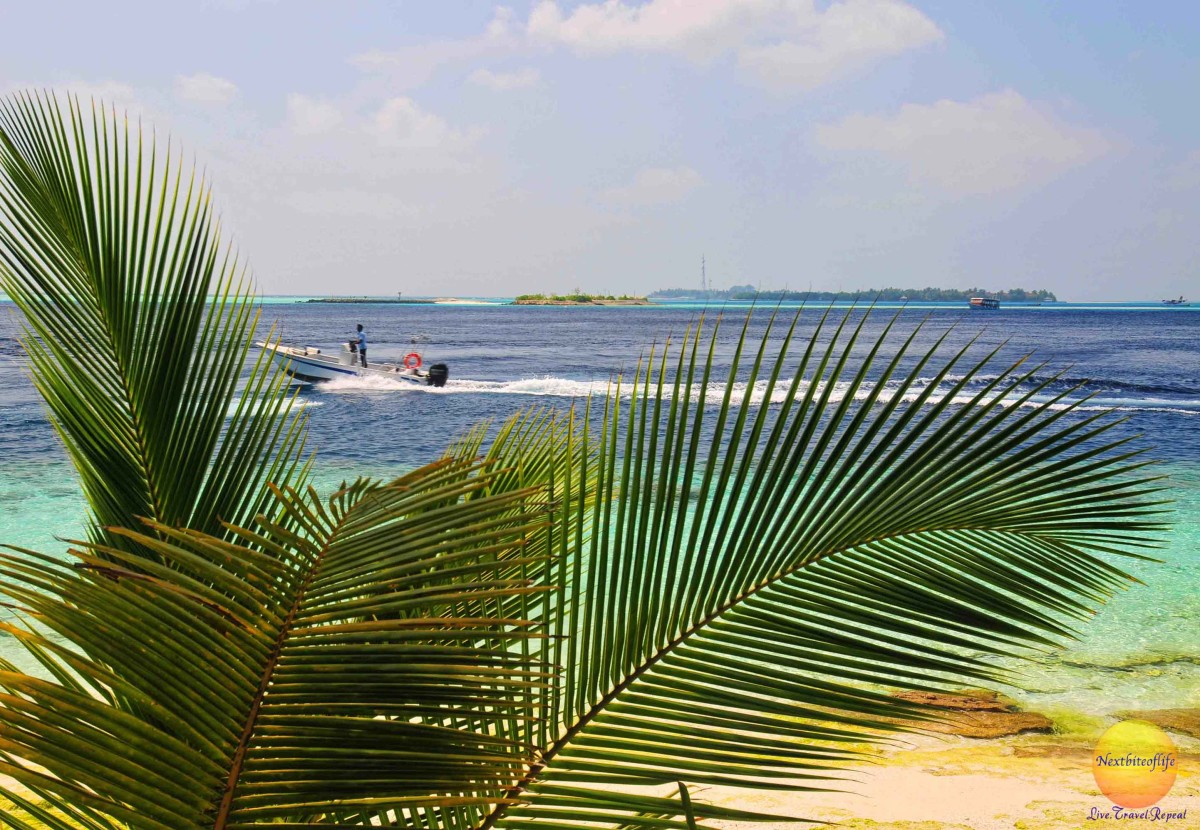 how to save money image of speedboat maldives