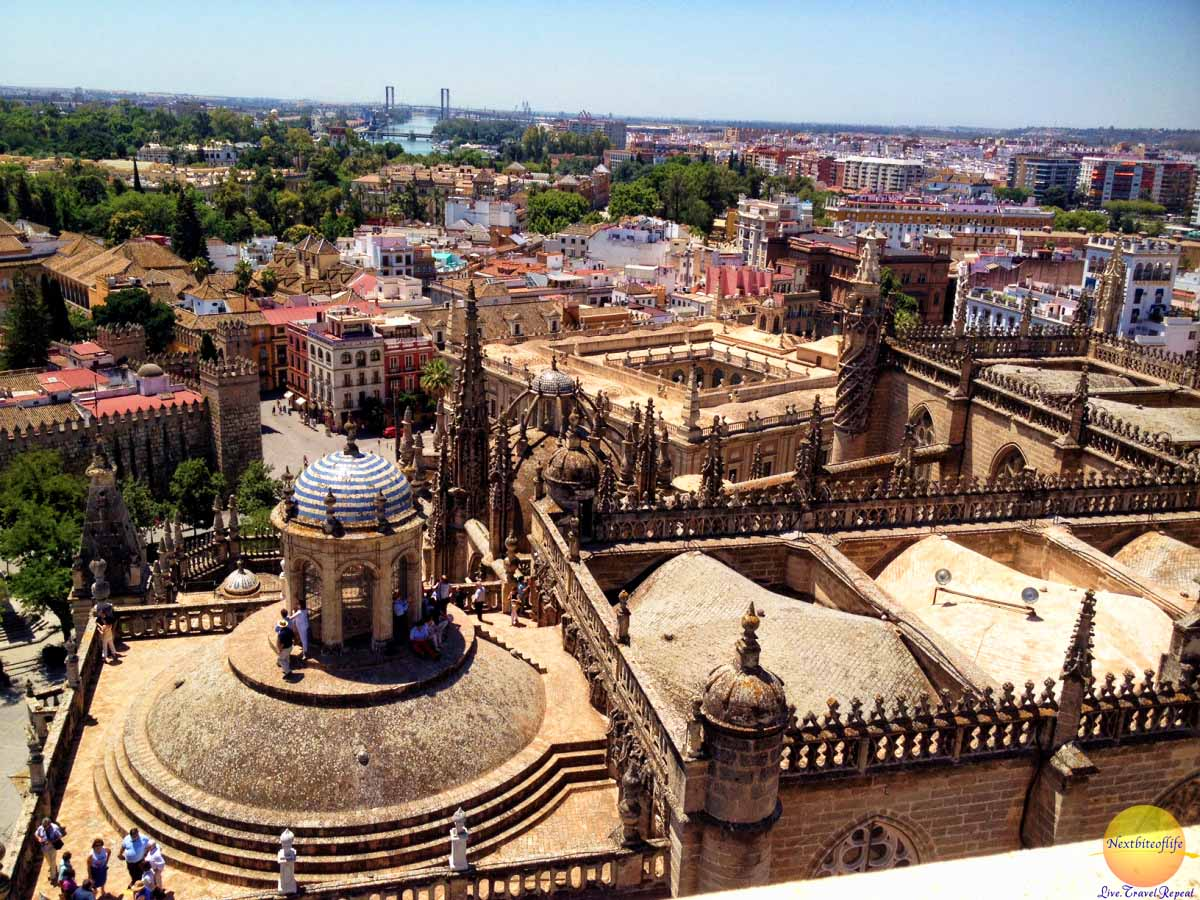 view from seville giralda tower