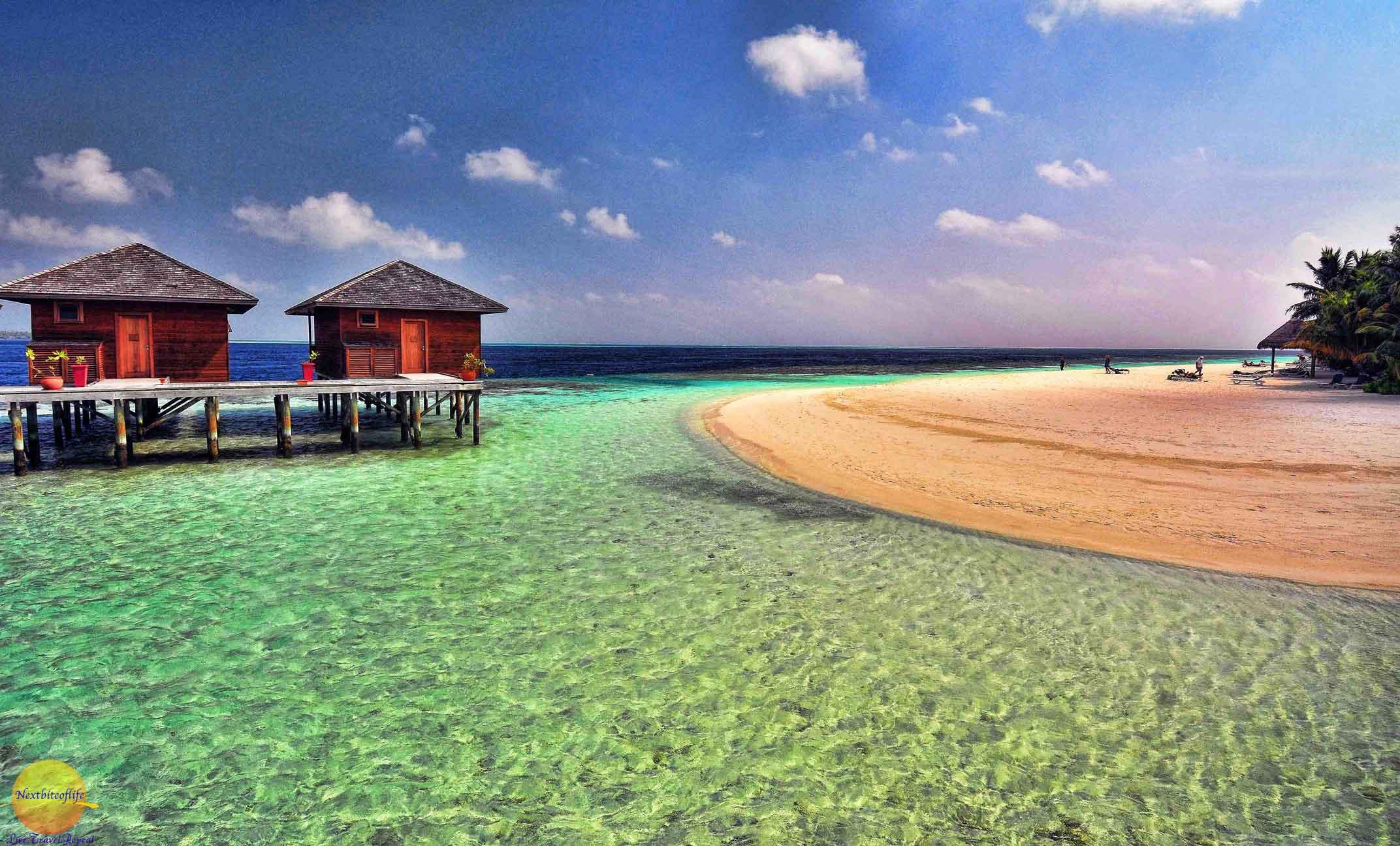 vilamendhoo spa huts and beach maldives image