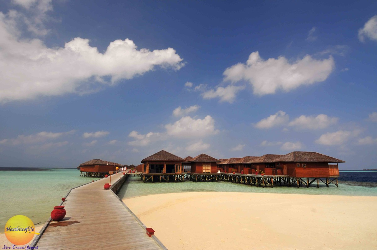 photo showing vilamendhoo resort water villas, spa and beach.