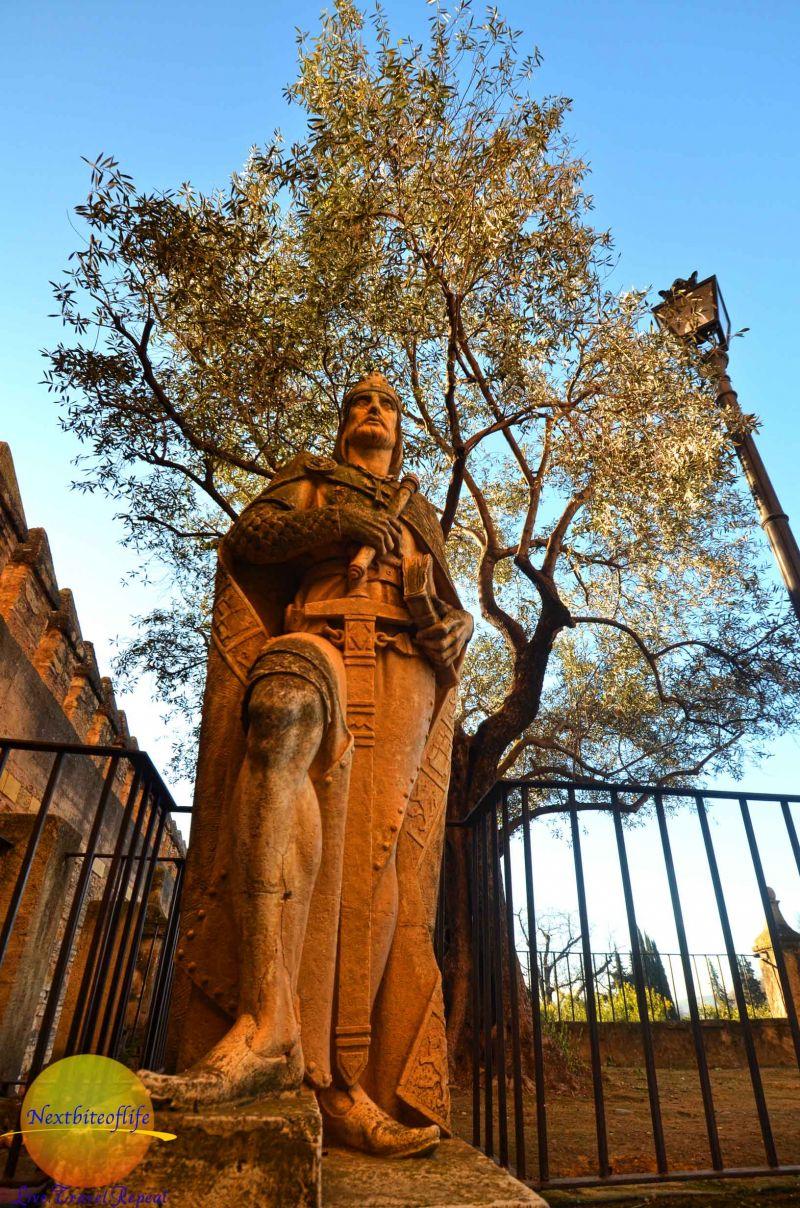 king alfonso statue alcazar of cordoba