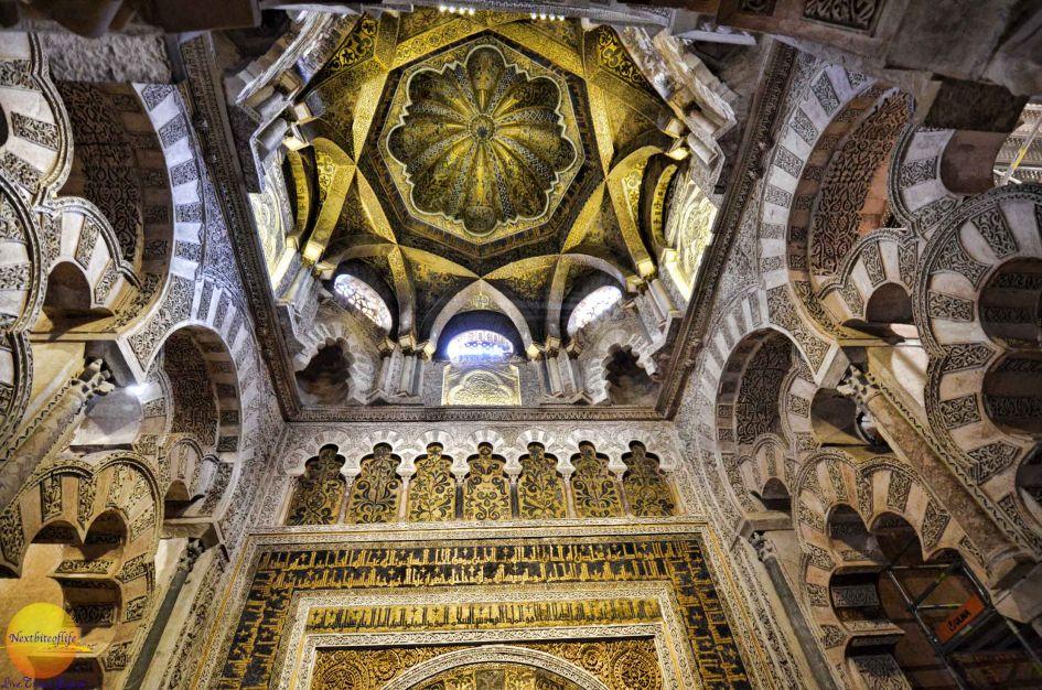 mihrab dome la mezquita cordoba