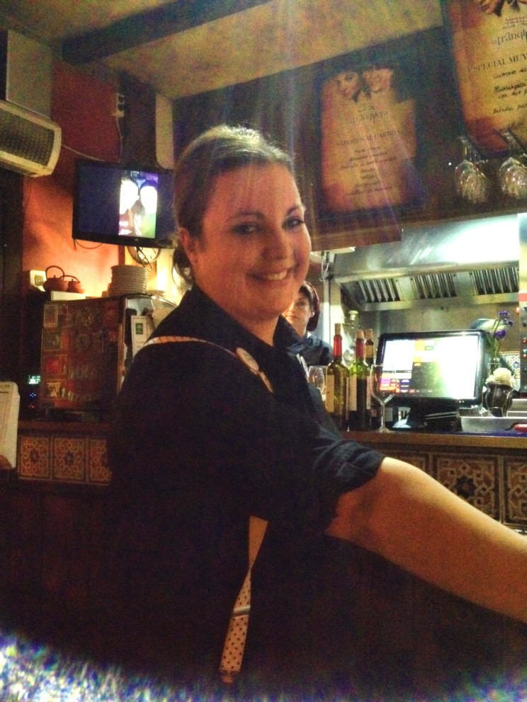 Our lovely waitress. I can't believe l forgot her name. She was fantastic with us.