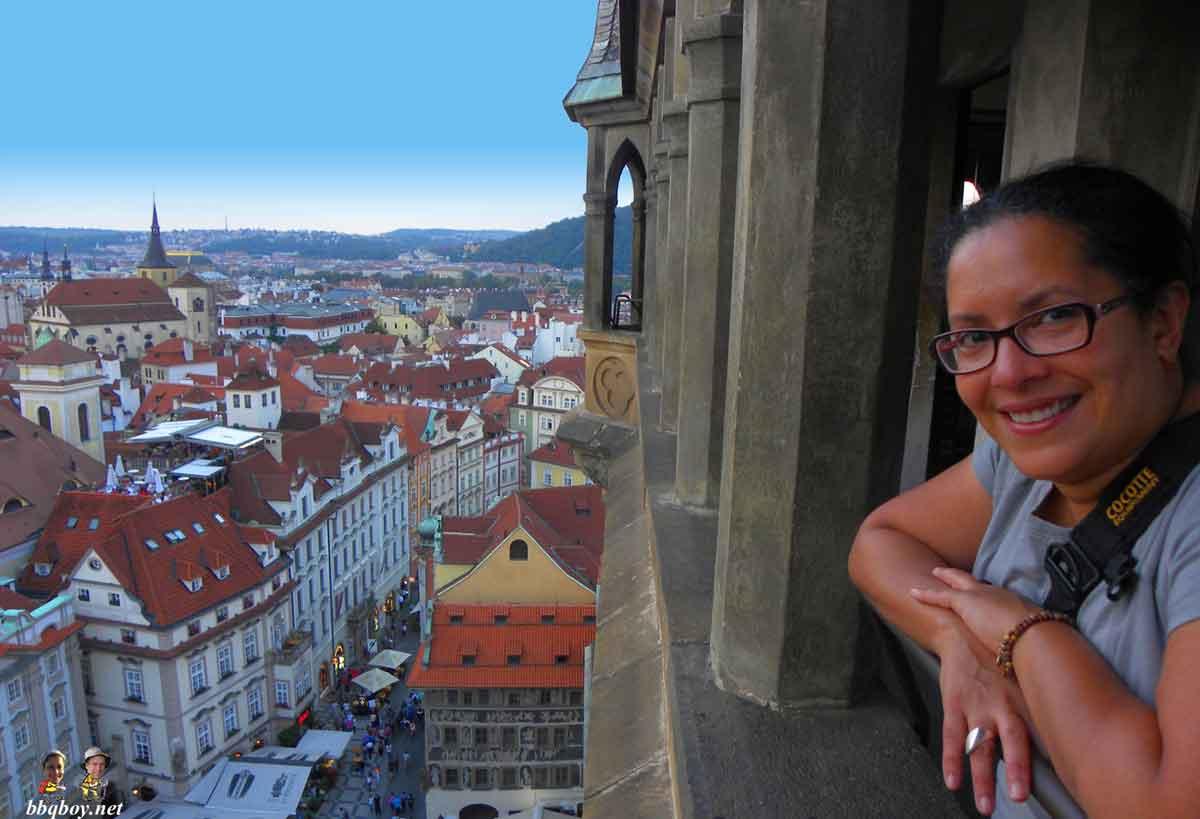 Lissette enjoying the views over Prague.