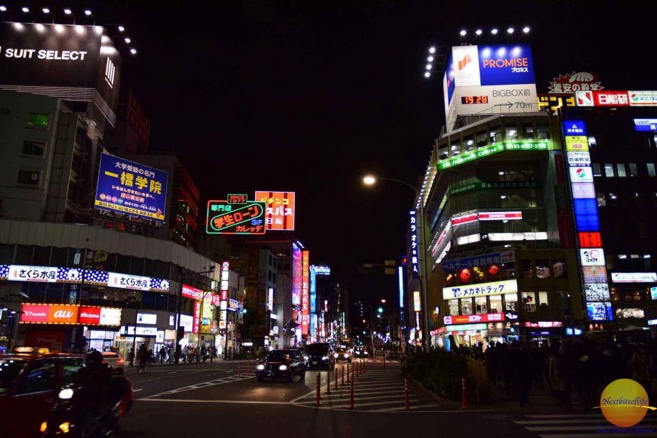 tokyo, japan night street view