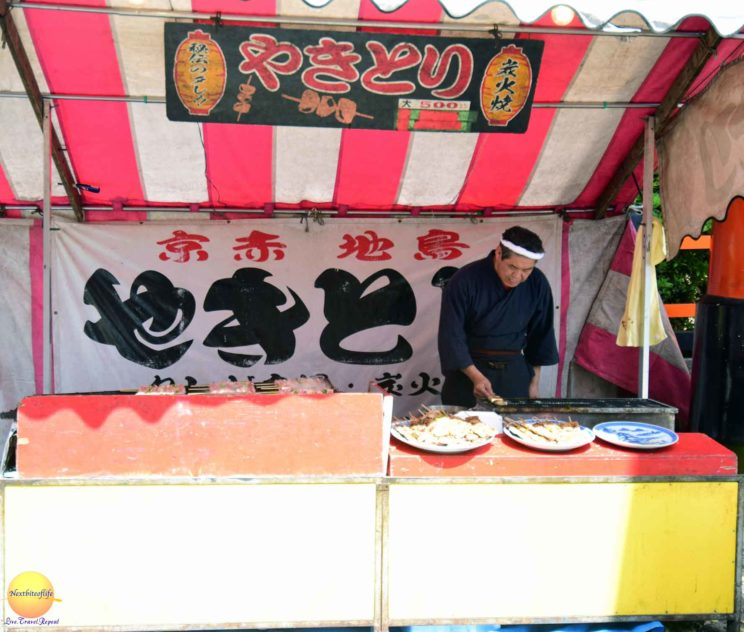 streetfood japan stall skewer chicken