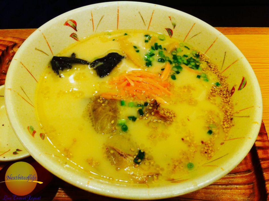 noodle soup in Japan