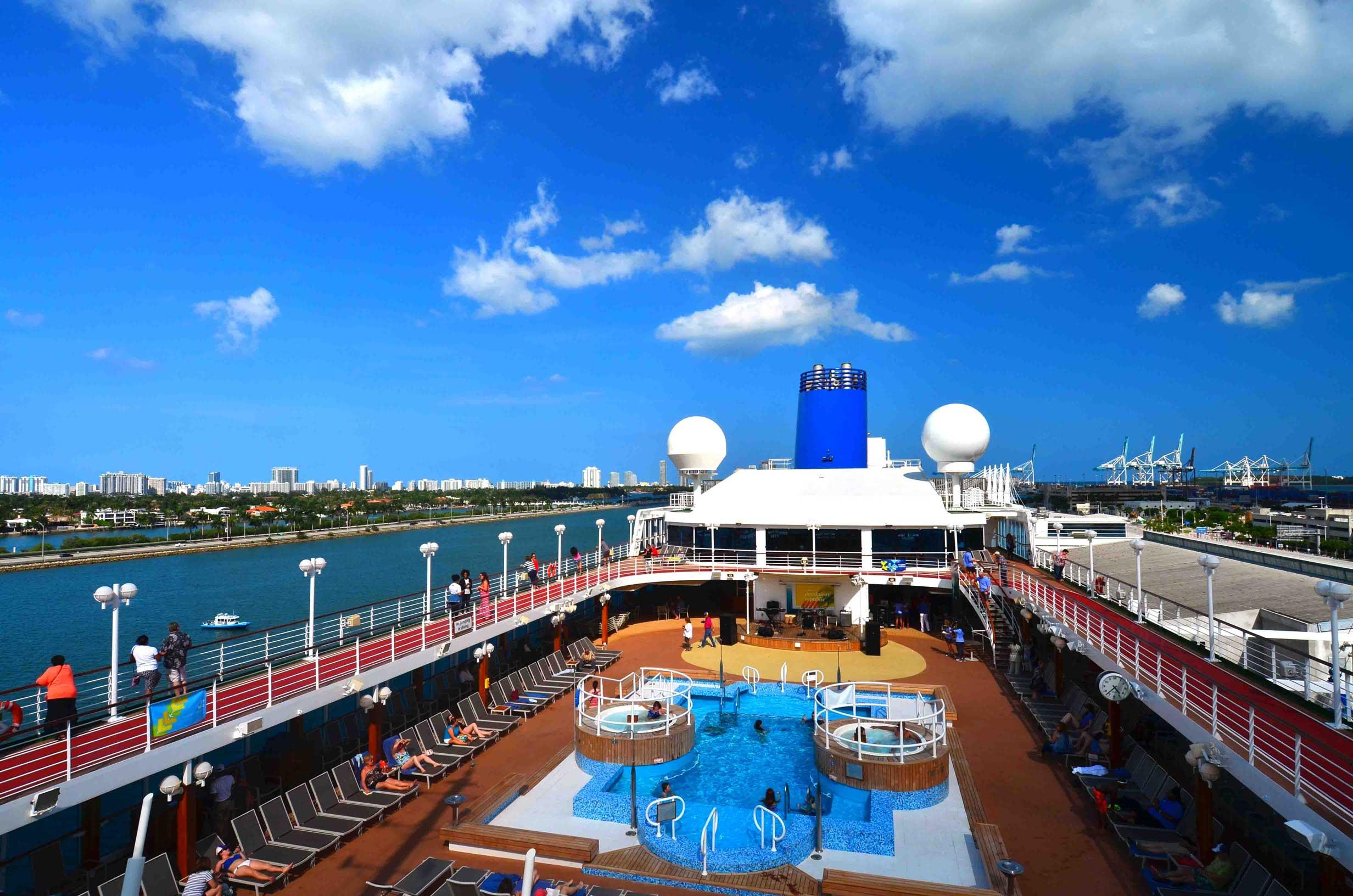 Fathom Adonia setting sail from Miami