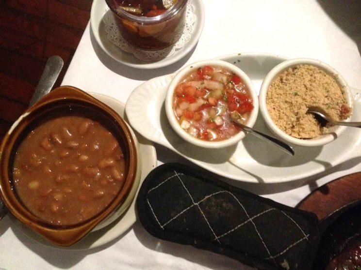 beans and pico de gallo